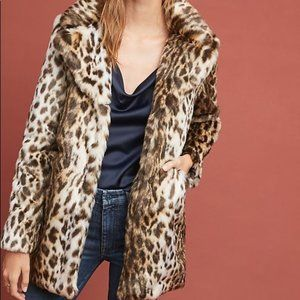 Anthropologie Marrakech Faux Fur Coat